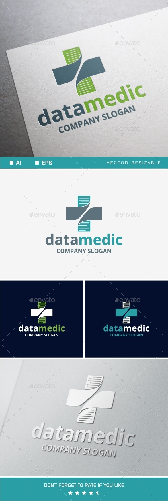 GraphicRiver Data Medic Logo 9597686