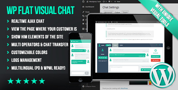 WP Flat Visual Chat - CodeCanyon Item for Sale
