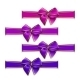 Set of Elegant Silk Colored Bows - GraphicRiver Item for Sale