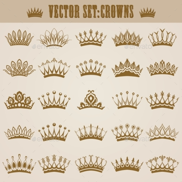 GraphicRiver Victorian Crowns 9597922