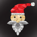 santa clause polygon - PhotoDune Item for Sale