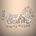 Merry Christmas Doodles Label - PhotoDune Item for Sale