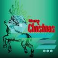 Merry Christmas Reindeer Doodles Label - PhotoDune Item for Sale