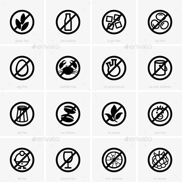 GraphicRiver Allergen Free Icons 9598200