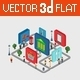 Flat 3D Isometric City Navigation Icons - GraphicRiver Item for Sale