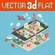Flat 3D Isometric Mobile Navigation Infographic - GraphicRiver Item for Sale