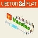 Flat 3D Isometric Medical Vaccine Cure - GraphicRiver Item for Sale