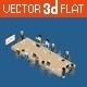 Flat 3D Web Isometric Business Meeting - GraphicRiver Item for Sale