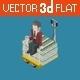 Flat 3D Isometric Billionaire - GraphicRiver Item for Sale