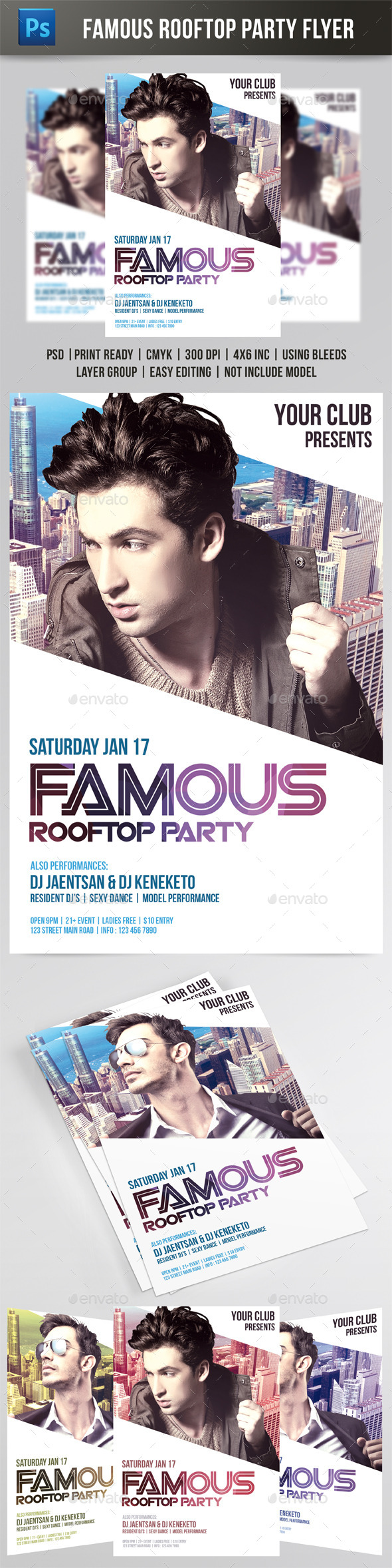 GraphicRiver Famous Rooftop Party Flyer 9598395