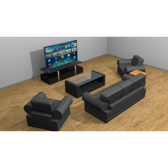 3DOcean Simple living room set 9598637