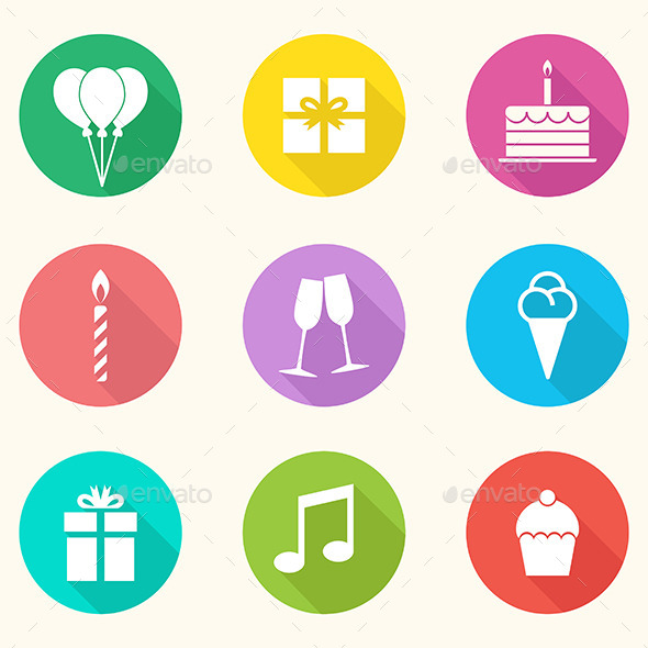 GraphicRiver Birthday Icons Vector 9598647