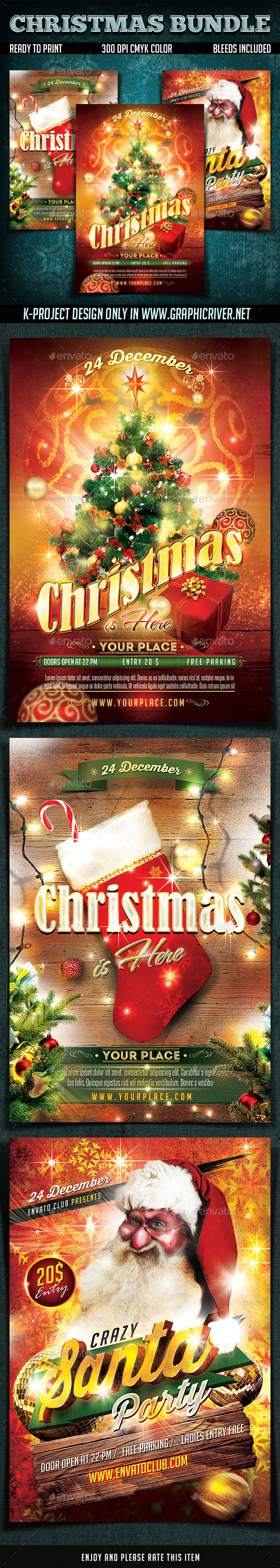GraphicRiver Christmas Flyers Bundle 9598650