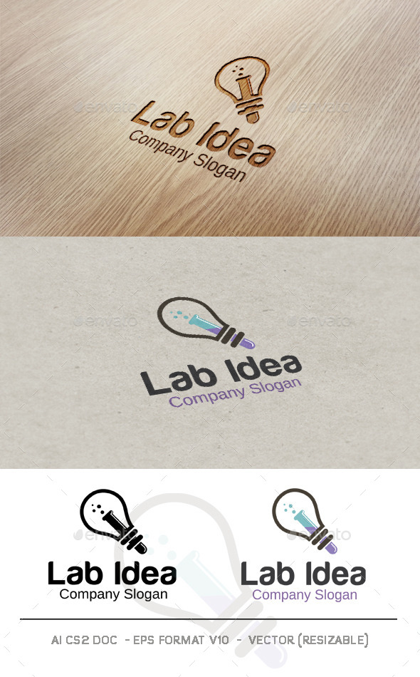 GraphicRiver Lab Idea Logo 9598665