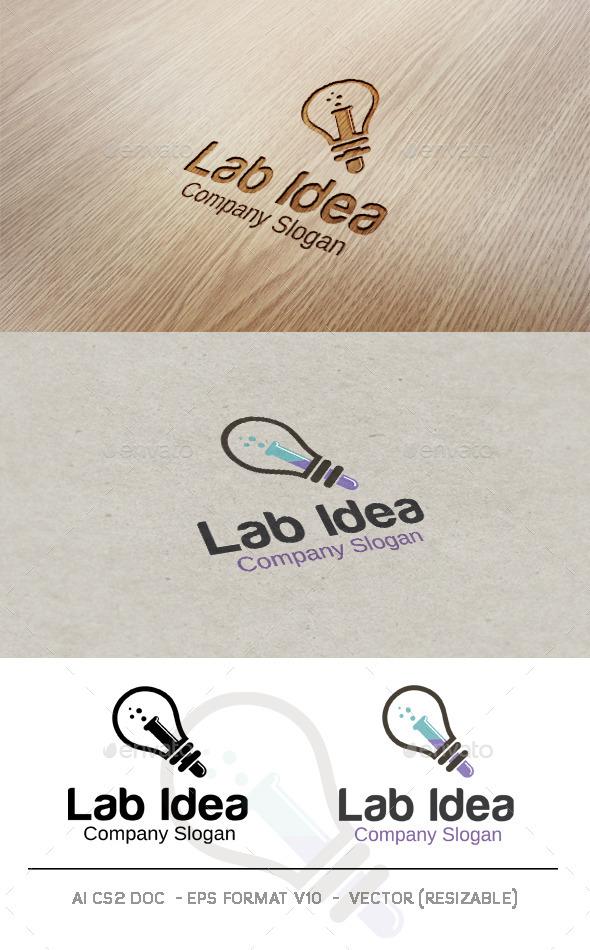 GraphicRiver Lab Idea Logo 9598665