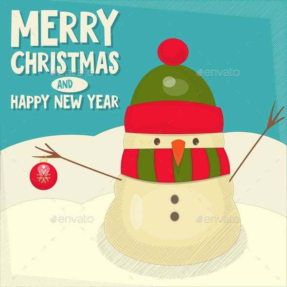 GraphicRiver Merry Christmas Greeting Card 9598687
