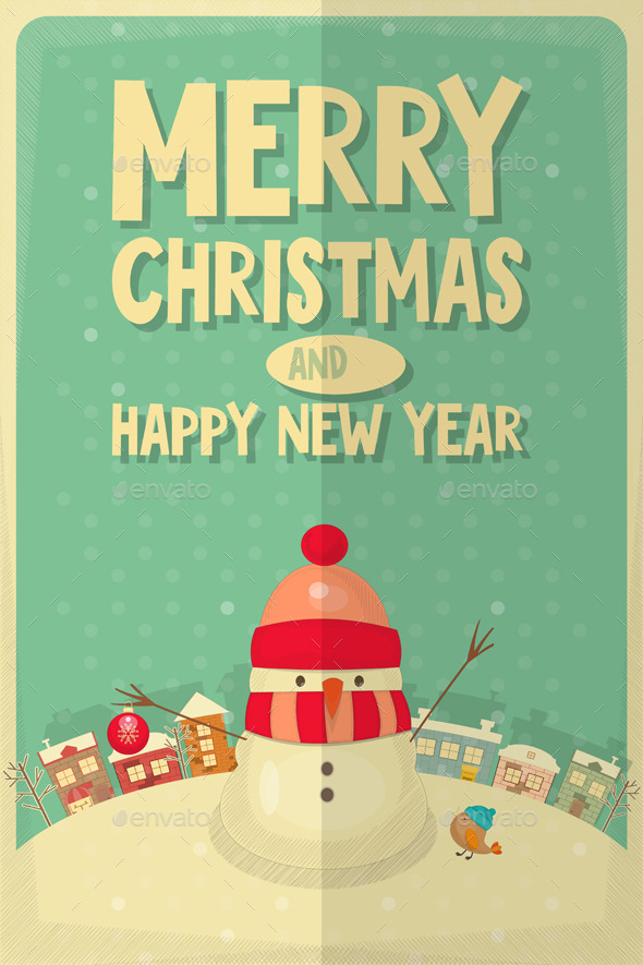 GraphicRiver Merry Christmas Greeting Card 9598734