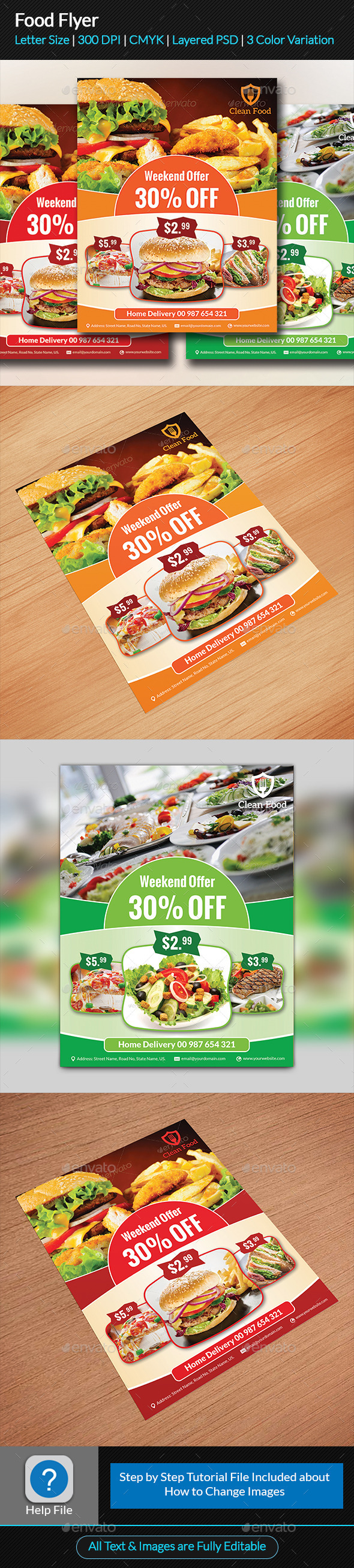 GraphicRiver Food Flyer 9598750