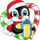 Penguin with a Gift - GraphicRiver Item for Sale