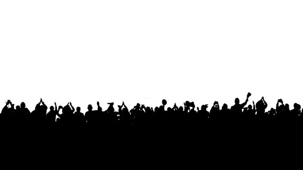 Crowd of People on the White Background