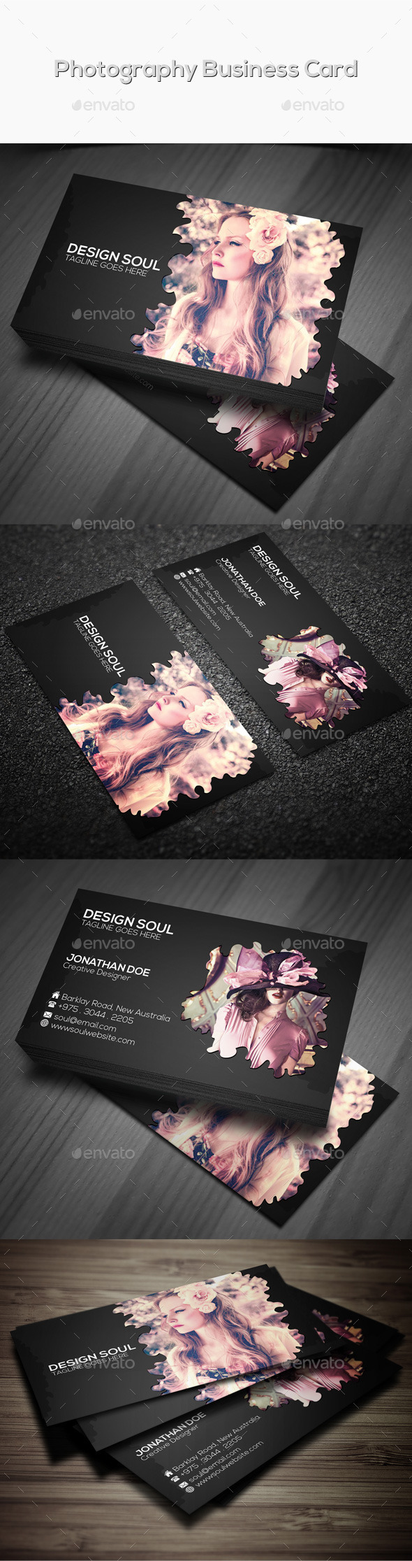 GraphicRiver Photography Business Card 9599238