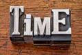 time word in metal type - PhotoDune Item for Sale