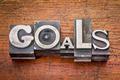 goals word in metal type - PhotoDune Item for Sale
