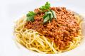 Italian meat sauce pasta on the table - PhotoDune Item for Sale
