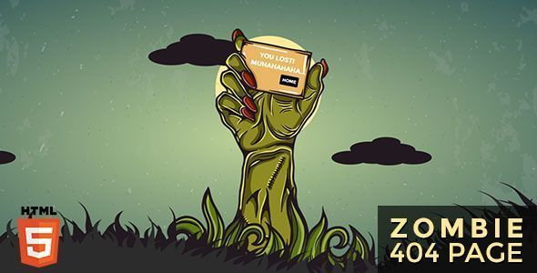 Zombie - Animated 404 Page