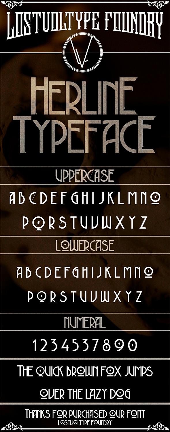 GraphicRiver Herline Typeface 9599776