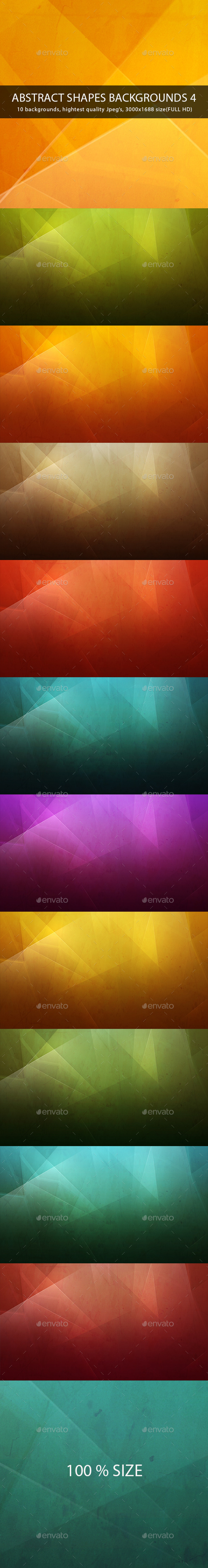 GraphicRiver Abstract Shapes Backgrounds  Wallpapers 4 9599778