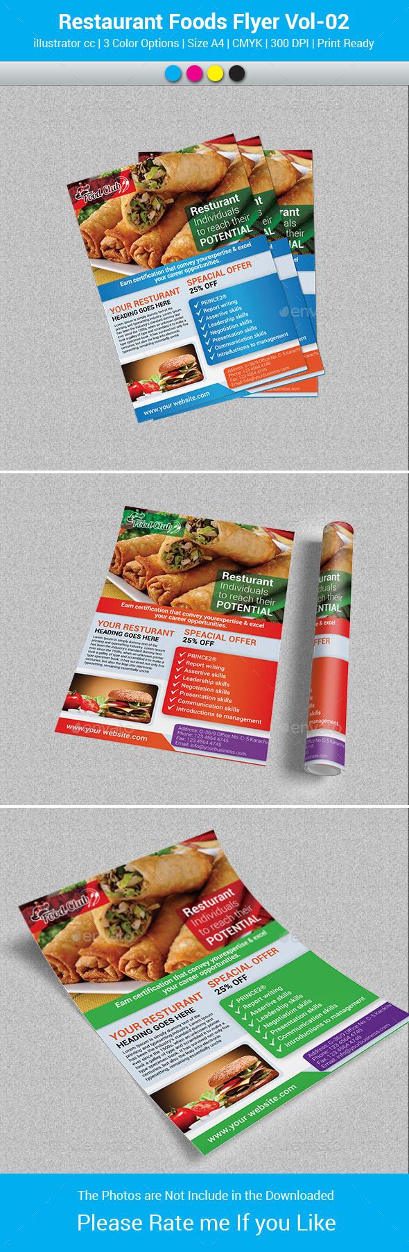 GraphicRiver Restaurant Foods Flyer Vol-02 9599799