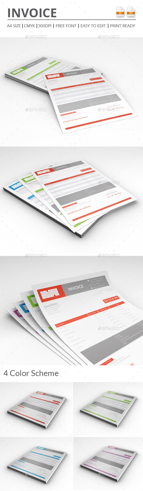GraphicRiver Invoice 9600008