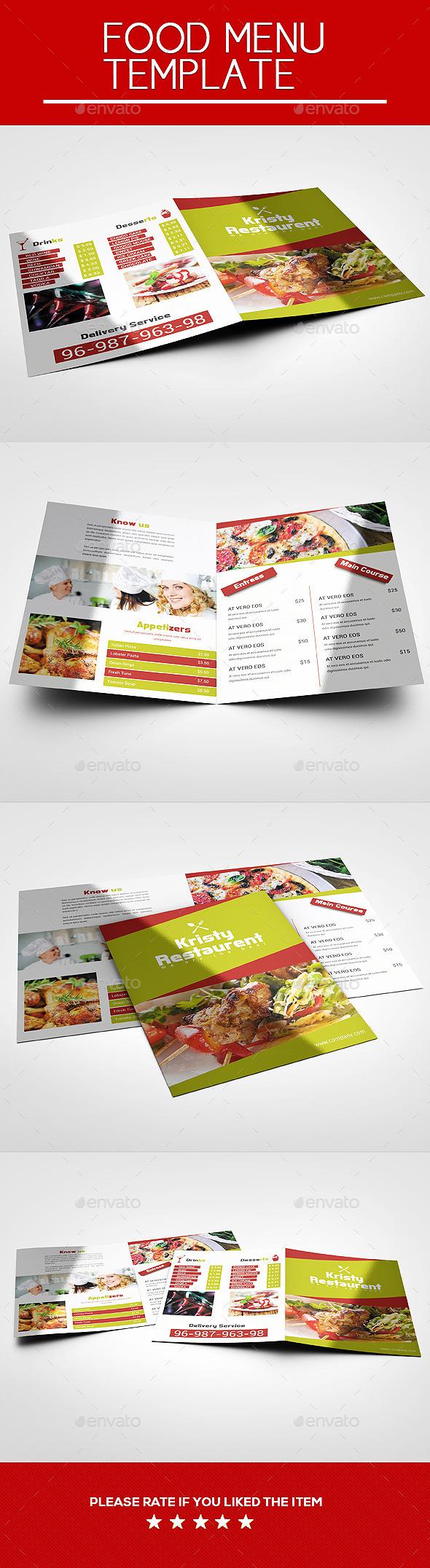 GraphicRiver Colorful Food Menu 9600057