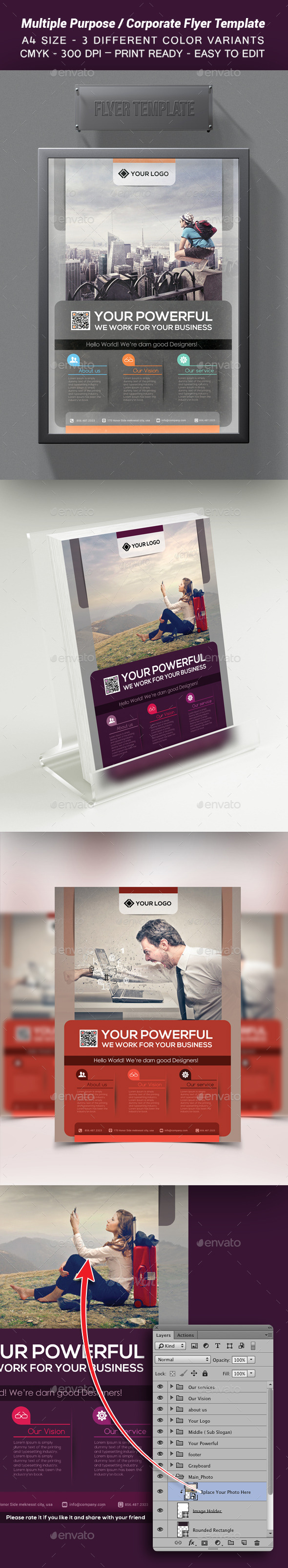 GraphicRiver Multiple Purpose Corporate Flyer Template 9600163