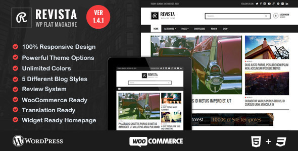 Revista - Ultimate Flat Magazine WordPress Theme - Blog / Magazine WordPress