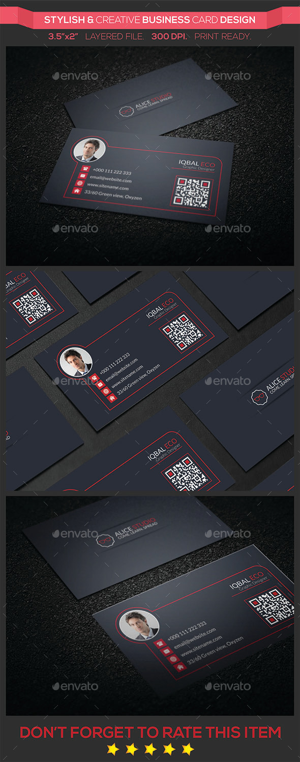 GraphicRiver Stylish & Creative Business Card Design 9600394