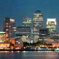London Canary Wharf at night - PhotoDune Item for Sale