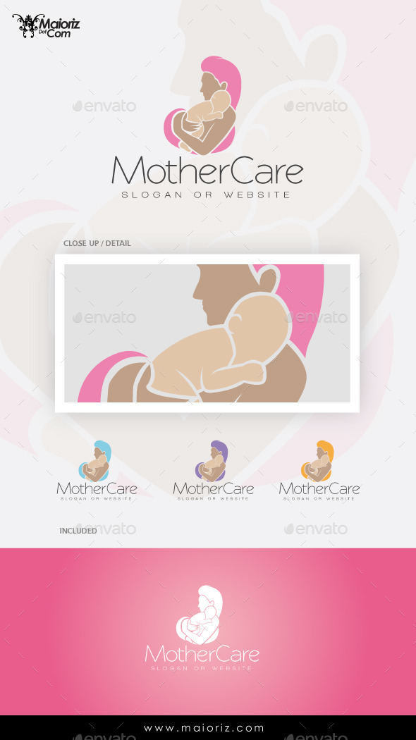GraphicRiver Mother Care Logo Template 9600422