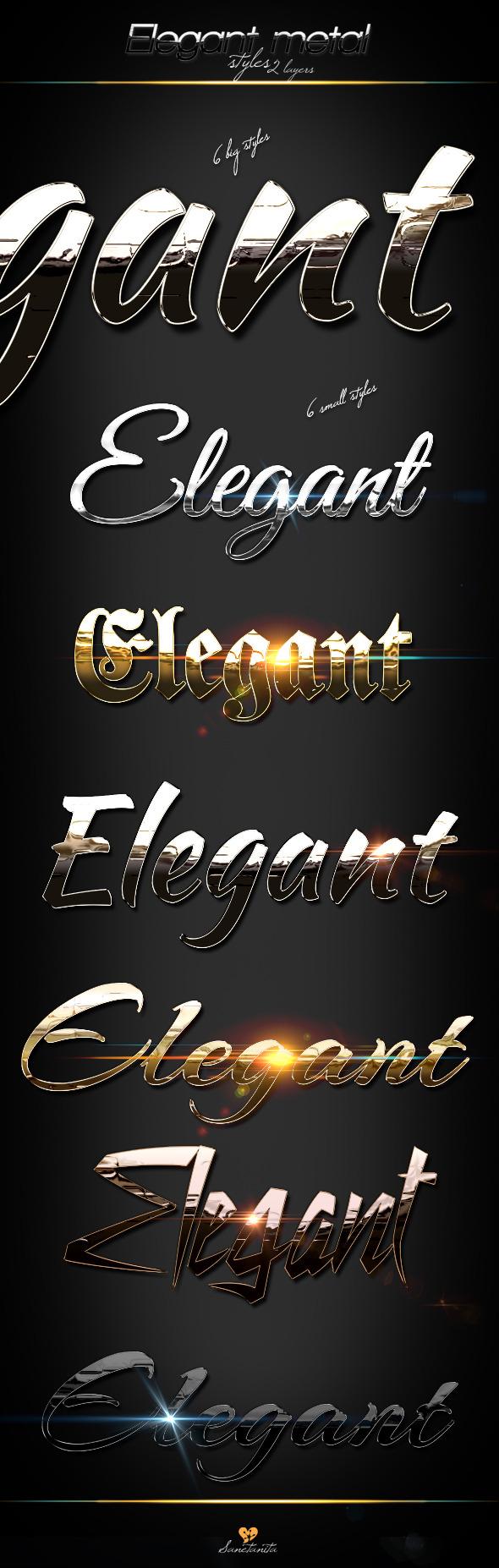 GraphicRiver Elegant Metal Styles 9600775