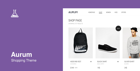 ThemeForest Aurum Minimalist Shopping Theme 9600822