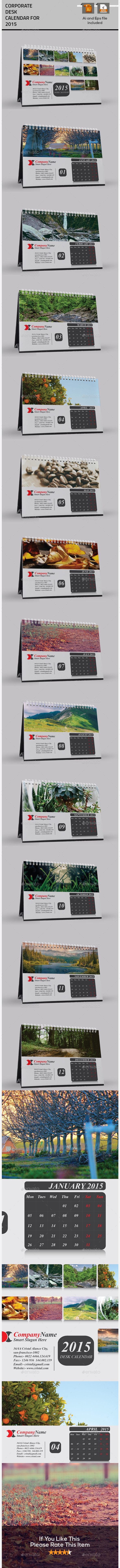 GraphicRiver Nice Desktop Calendar For 2015 9601025