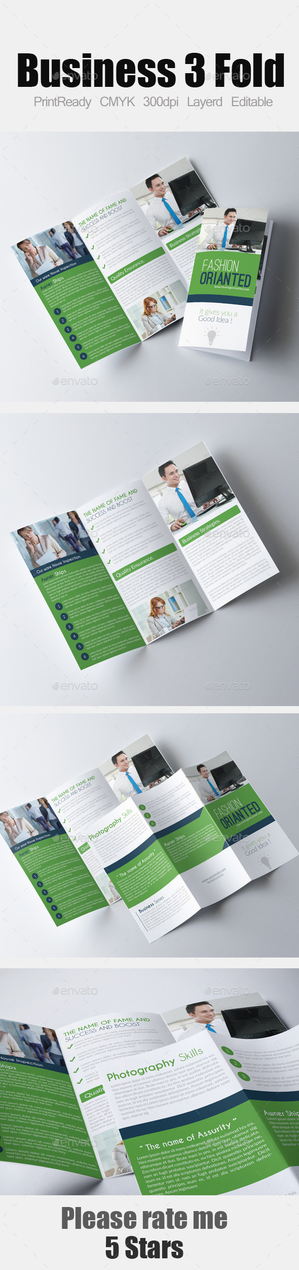 GraphicRiver Tri Fold Business Brochure 9601110