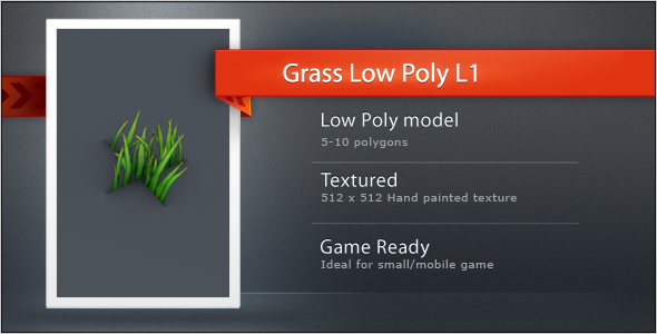 3DOcean Low Poly Grass L1 9601138