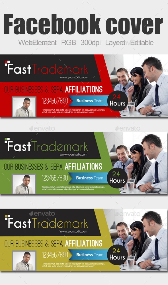 GraphicRiver Multi Use Business Facebook Cover 9601277