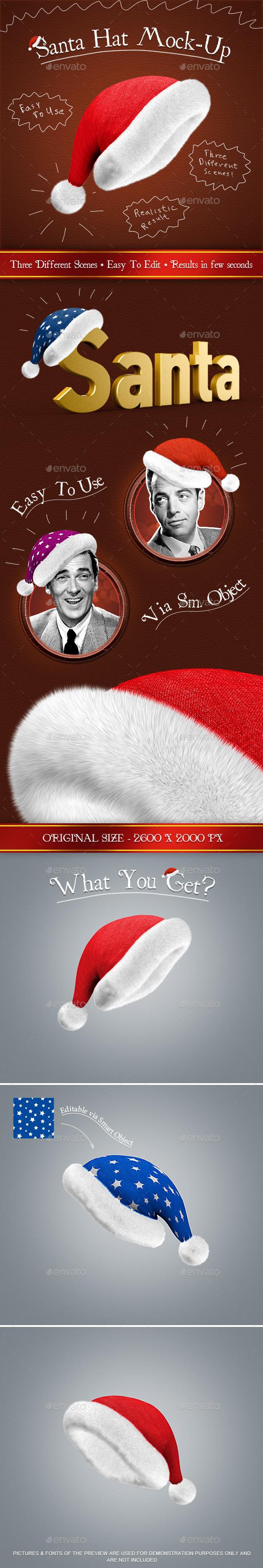GraphicRiver Santa Hat Mock-Up 9601292