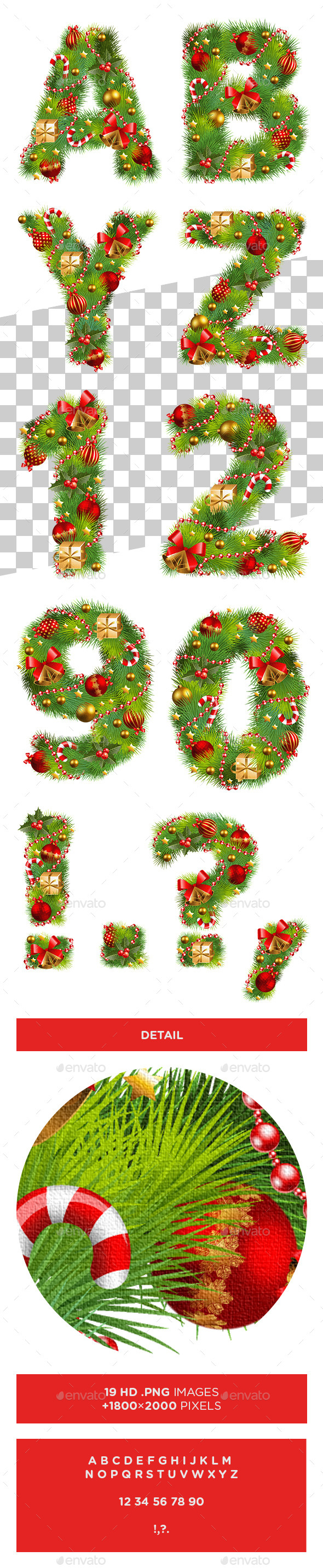 GraphicRiver Christmas Alphabet 9601351