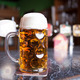 Beer glass on a bar table. Closeup. - PhotoDune Item for Sale