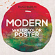 Minimal Modern Watercolor PosterFlyer Template