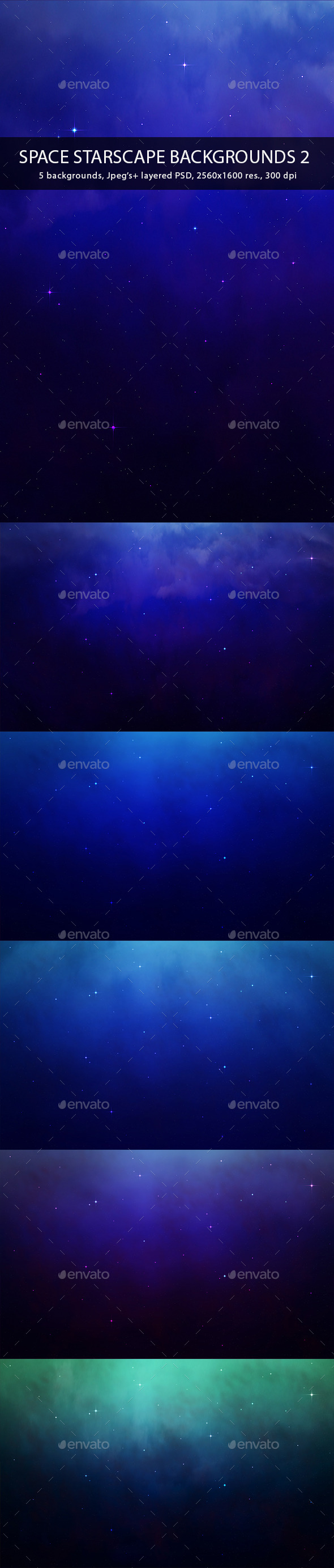 GraphicRiver Space Starscape Backgrounds 2 9601576